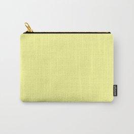 Lemon Chiffon Flat Color Carry-All Pouch