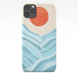 Waves Like Mountains iPhone Case