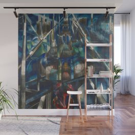 Classical Masterpiece 1920 Brooklyn Bridge by Joseph Stella Wall Mural