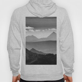 """Misty mountains"" BW. At sunset Hoody"
