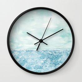Beach Art Painting Sand Sea Sky Wall Clock
