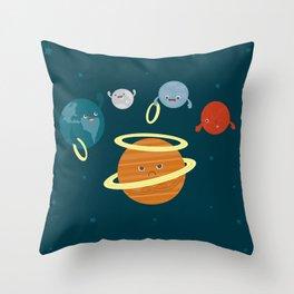 Saturn Ring Toss Throw Pillow