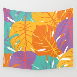 Leaf Pattern - GraphicDesign Wall Tapestry