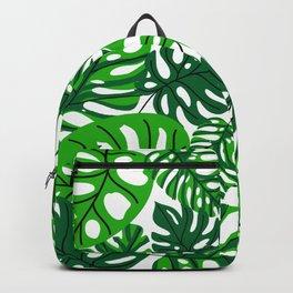 green leaf pattern Backpack