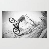 bikes Area & Throw Rugs featuring bikes  by KayleeRae
