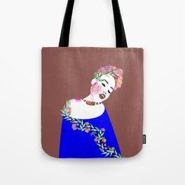 Flowered woman Tote Bag