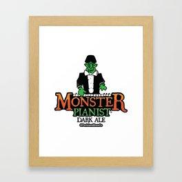 Monster Pianist Dark Ale Framed Art Print