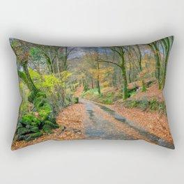 Autumn Forest Snowdonia Rectangular Pillow