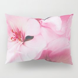 Pastel Pink Petal Flowers Pillow Sham