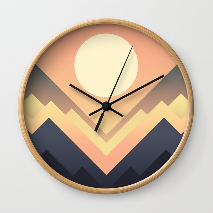 The Sun Rises Wall Clock