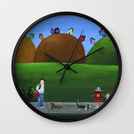Hilly Hold-up Wall Clock