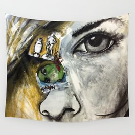 Face To Face Wall Tapestry