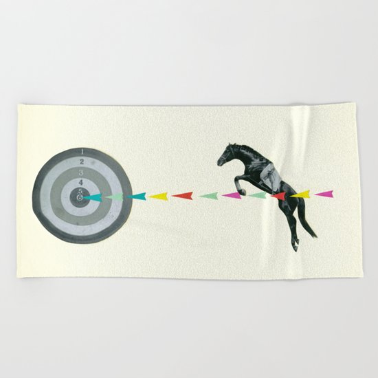 On Target : Sagittarius Beach Towel