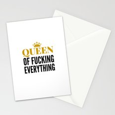 QUEEN OF FUCKING EVERYTHING Stationery Cards