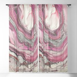 Liquid Acrylic 16 Sheer Curtain