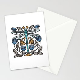 Dragonfly tile Stationery Cards