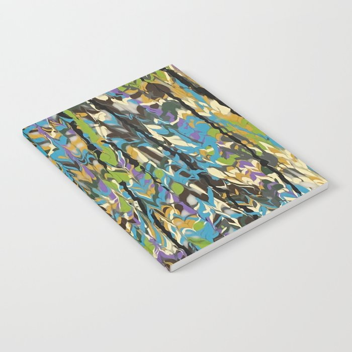Abstract Music rapids Forest Inner organic pattern  Notebook