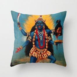 Kali - Hindu Throw Pillow