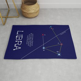 Zodiac Constellation Libra. Real Color Of The Stars Rug