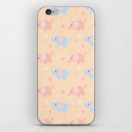 The Patterned Ear Elephant iPhone Skin