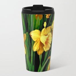 Bouquet Of Golden Spring Daffodils Travel Mug