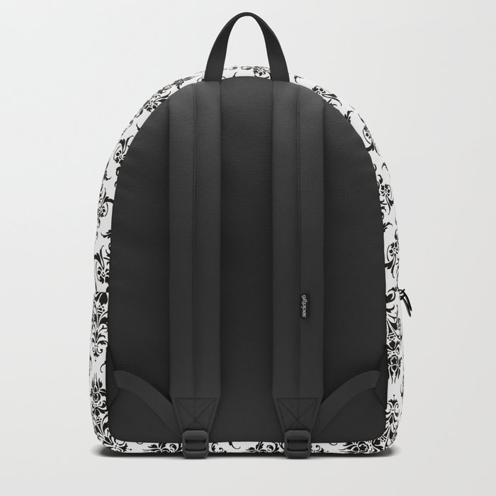 Damask Pattern | Black and White Backpack