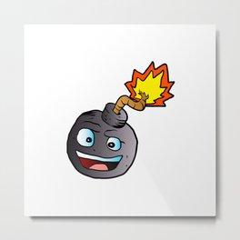 bomb explosive character mascot Metal Print