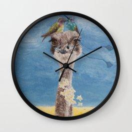 Olivia: My Dainty Ostrich Wall Clock