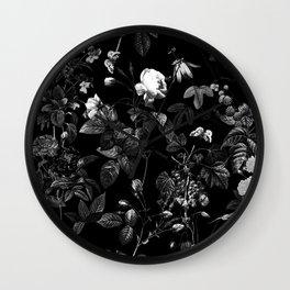 DARK FLOWER Wall Clock