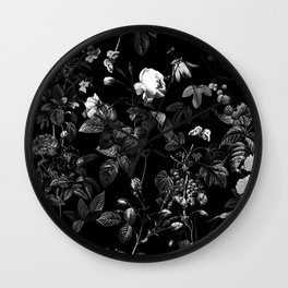 DARK FLOWER Wall Clock