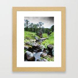 Eroded Dam Framed Art Print