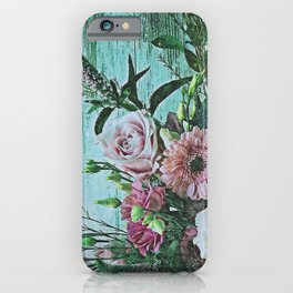 Shabby Pastel Floral Still Life iPhone Case