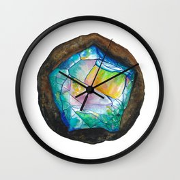 Rough Opal Stone Wall Clock