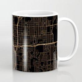 Black and gold Orlando map Coffee Mug