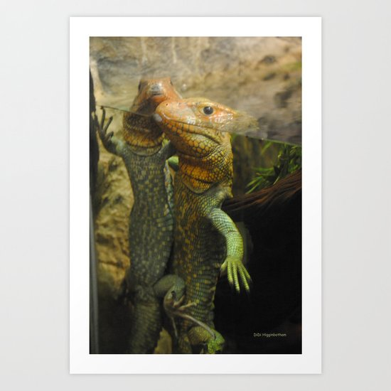 Keeping Our Heads Above Water, Barely Art Print