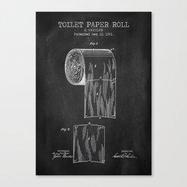 Toilet Paper Roll Chalkboard Canvas Print