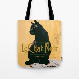Le Chat Noir Vintage Travel Style Tote Bag