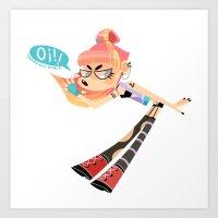 REN! - OI! Art Print