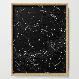 Constellation Map - Black Serving Tray