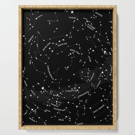 Constellation Map - Black Serving Tray