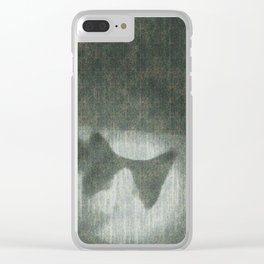 Cloudy day cat Clear iPhone Case