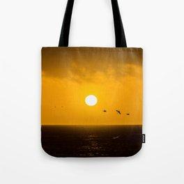 Sunset at Half Moon Bay Tote Bag