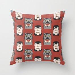 Vampires VS Werewolves Throw Pillow
