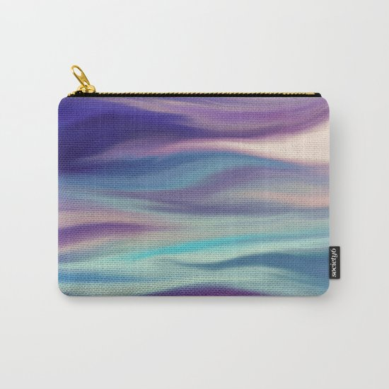 Painted digital silk texture blue colors Carry-All Pouch