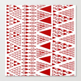 Zig Zag Pattern -  brick red Canvas Print