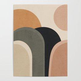 abstract minimal sunrise Poster