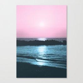 Sunset Ocean Bliss #5 #nature #art #society6 Canvas Print