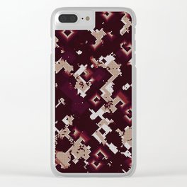 Noisy pattern with chaotic spirals Clear iPhone Case