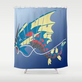 Mega gyarados Shower Curtain