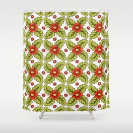 Guild of flowers and leaves! Shower Curtain